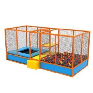 Structura modulara cu trambulina si piscina cu bile