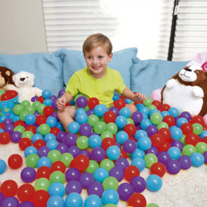 Set 100 bile colorate copii LJ301