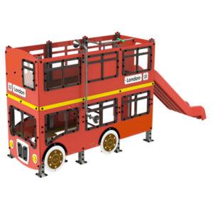 Ansamblu de joaca exterior din aluminiu Bus englezesc LJ527