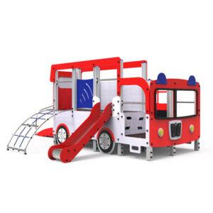 Ansamblu de joaca exterior din aluminiu Masina pompieri LJ528