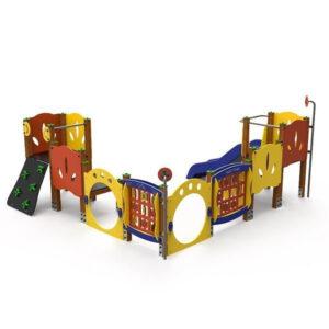 ANsamblu de joaca exterior din lemn LJ499