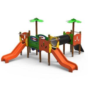 Ansablu de joaca exterior din lemn LJ501