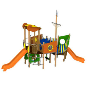 Ansamblu de joaca exterior din lemn Vapor LJ521
