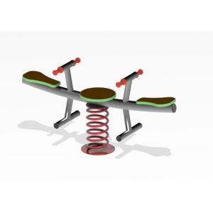 Balansoar pe arc din metal cu 2 locuri LJ624