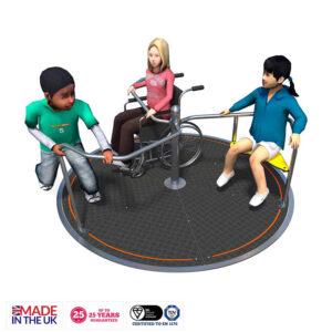 Carusel din inox pentru copii cu dizabilitati LJ637